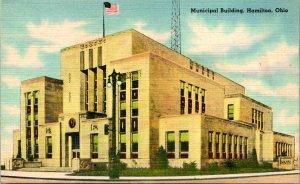Hamilton OH Municipal Building Postcard unused (23911)