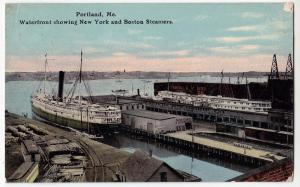 Waterfront, NY & Boston Steamers, Portland Me