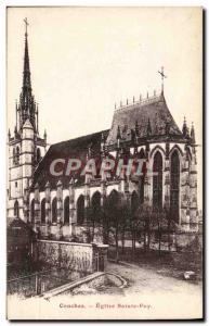 Old Postcard Conches Eglise Sainte Foy