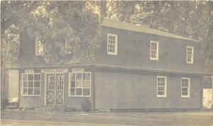 E56/ Holland Ohio Postcard c1940s Antique Shop John Damon Owner