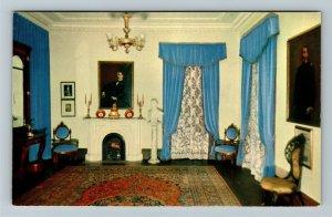 Reno NV- Nevada, Interior of Bowers Mansion, Chrome Postcard
