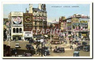 Old Postcard Piccadilly Circus London
