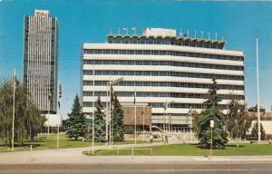 Exterior,  The C.N.Tower and City Hall,  Edmonton,  Alberta,  Canada,   40-60s