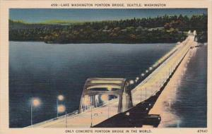 Lake Washington Pontoon Bridge Only Concrete Pontoon Bridge In The World Seat...