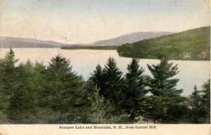 NH - Lake Sunapee. Lake & Mountain from Garnet Hill.  *RPO- Claremont & Lowel...