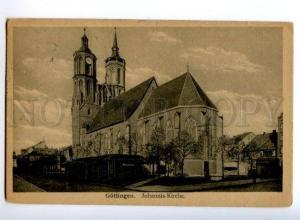 173644 GERMANY GOTTINGEN Johannis Kirche church Vintage RPPC
