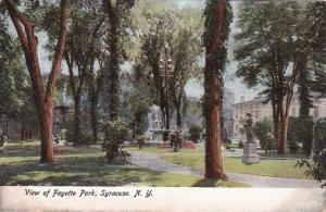 New York Syracuse View Of Fayette Park
