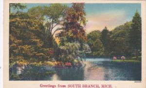 Michigan Greetings From South Branch 1950