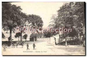 Postcard Old Vincennes Entree Du Fort