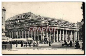 Old Postcard Bordeaux Grand Theater