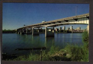 AR River Bridge City View Little Rock Arkansas Postcard ARK