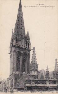France Caen Eglise Saint Sauveur Clocher style Gothique 1927