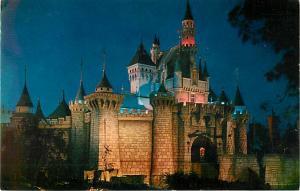 Sleeping Beauty Castle at Night Disneyland in Anaheim CA