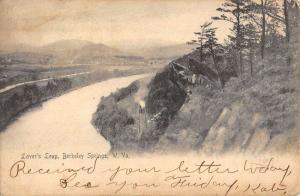 Berkeley Springs West Virginia Lovers Leap Birdseye View Antique Postcard K85976