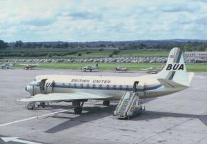 BUA Viscount G-APTC Plane in 1967 Gatwick Airport Limited Edition 300 Postcard
