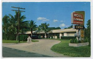 Motel Floridan US Highway 41 Fort Myers Florida 1959 postcard
