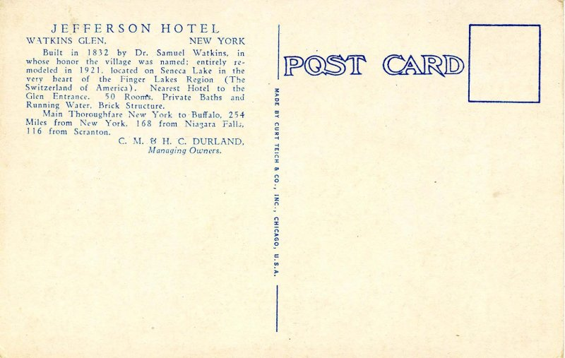 NY - Watkins Glen. Jefferson Hotel, Music Room