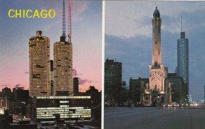 CHICAGO , Illinois , 50-60s ; Marina City & Water Tower