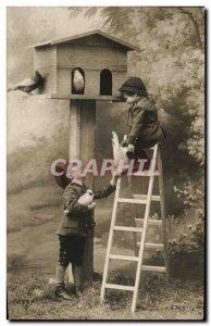 Old Postcard Fantasy Children Colombes