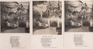 The Holy City 3x Antique Religious Songcard Postcard s