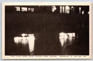 Montpelier Vermont~Store Window Lights Under Water~Nov 3 1927 Flood Scene~PC