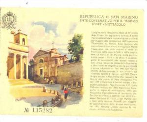 AS, Showing A Church, Repubblica Di San Marino, Entre Governativo Per Il Turi...
