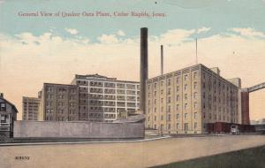 CEDAR RAPIDS, Iowa, 1914 ; General View of Quaker Oats Plant