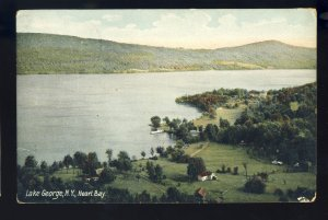 Lake George, New York/NY Postcard, Aerial View Of Heart Bay, 1910!