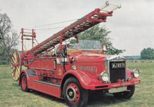 Braidwood Open Bodied Dennis Bedford Fire Engine Brigade Postcard