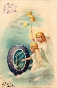 CPA Angels with Egg and a Temple – Easter ANGELS (777521)