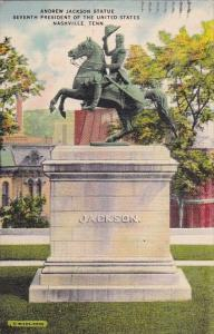 Andrew Jackson Statue Seventh President Of The United State Nashille Tennesse...