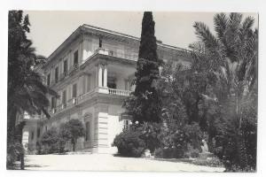 RP Greece Corfu Palais Achilleion Real Photo Michele Cocalis