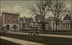 New Haven CT Vanderbilt Square Yale c1910 Postcard