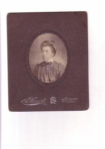 Woman Wire Rimmed Glasses, Glencoe, Ontario, Vintage Cardboard Photo