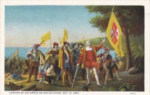 Landing Of Columbus On San Salvador 12 October 1492