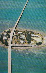 Florida Aerial View Of Seven Mile Bridge and Pigeon Key In The Florida Keys