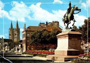 France Caen La Statue Equestre du Connetable Bertrand Duguesclin Place Saint ...