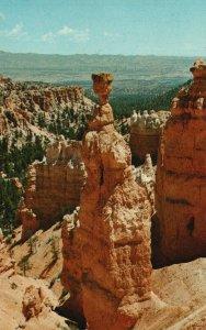 Bryce Canyon Nat'l Park, Utah, UT, Thors Hammer, Chrome Vintage Postcard g9214