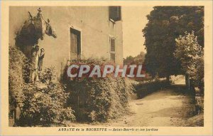 Postcard Abbey of Saint Benoit Rochette and Gardens