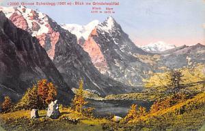 Switzerland Old Vintage Antique Post Card Grosse Scheidegg Postal Used Unknow...