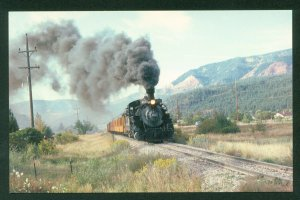 Denver and Rio Grande K28 Narrow Gauge Mikado No 481 Silverton Colorado Postcard