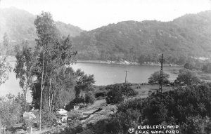 RPPC Kuebler's Camp, Lake Wohlford, Escondido, CA c1950s Vintage Postcard
