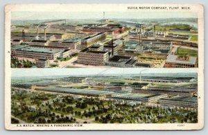 Flint Michigan~Buick Motor Company~A A Match Panoramic View~1928 Postcard