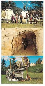 Flying W Ranch Colorado Springs CO Western Restaurant 6 Accordion  Postcards