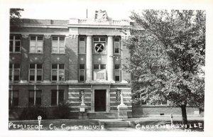 LPSS55 Caruthersville Missouri Pemiscot County Court House Postcard RPPC