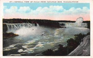 Niagara Falls from the Canadian Side, Canada, Early Postcard, Unused