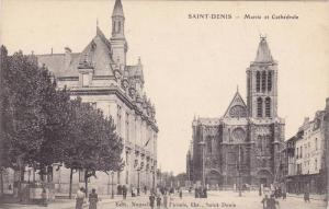 SAINT-DENIS , France , 00-10s ; Mairie et Cathedrale