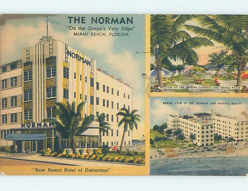 Linen Norman Hotel Miami Beach Florida Fl B4279