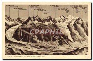 Old Postcard Chamonix Panoramic