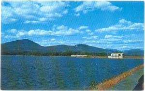 View of Gate House at Dividing Weir Ashokan Reservoir NY